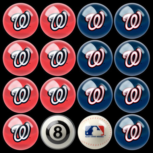 Washington Nationals Home Vs. Away Billiard Ball Set | Man Cave Authority | IMP 50-2133
