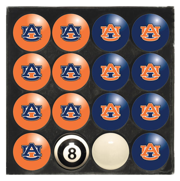 Auburn University Home Vs. Away Billiard Ball Set | Man Cave Authority | IMP 50-4002