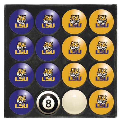 Louisiana State University (LSU) Home Vs. Away Billiard Ball Set | Man Cave Authority | IMP 50-4005