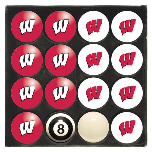 University Of Wisconsin Home Vs. Away Billiard Ball Set | Man Cave Authority | IMP 50-4013