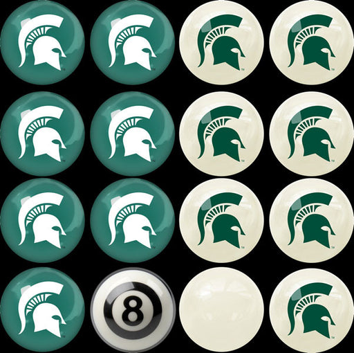 Michigan State Home Vs. Away Billiard Ball Set | Man Cave Authority | IMP 50-4016