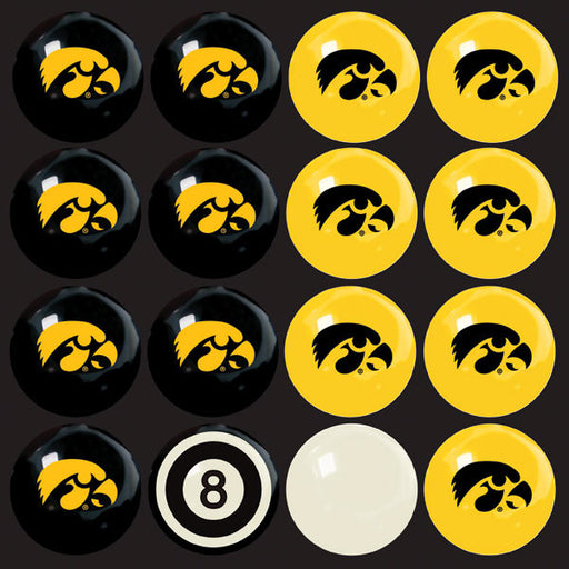 University Of Iowa Home Vs. Away Billiard Ball Set | Man Cave Authority | IMP 50-4018
