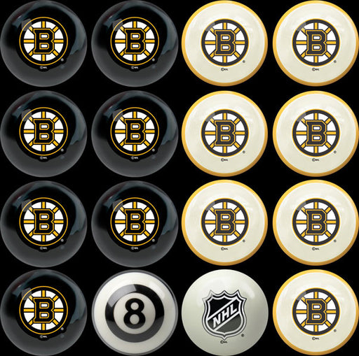 Boston Bruins Home Vs. Away Billiard Ball Set | Man Cave Authority | IMP 50-4101
