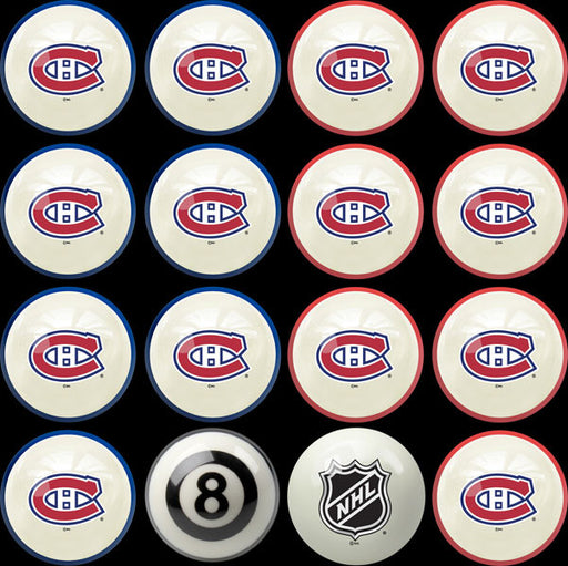Montreal Canadiens Home Vs. Away Billiard Ball Set | Man Cave Authority | IMP 50-4109