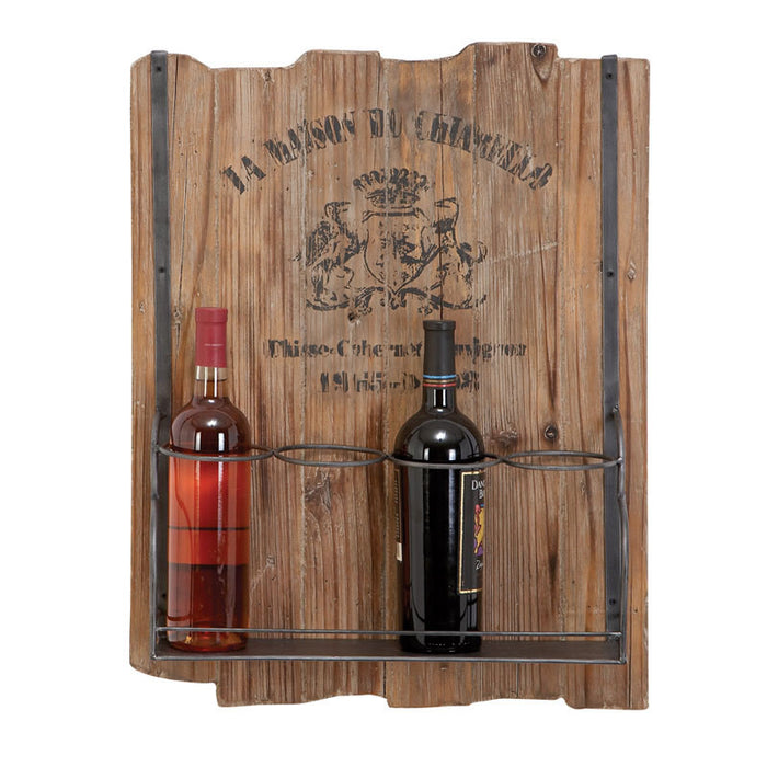 Rugged Wall Mounted Wine Rack for Four Bottles | Man Cave Authority | 51667