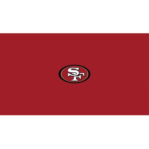 San Francisco 49ers 8 Foot Billiard Cloth | Man Cave Authority | IMP 52-1005