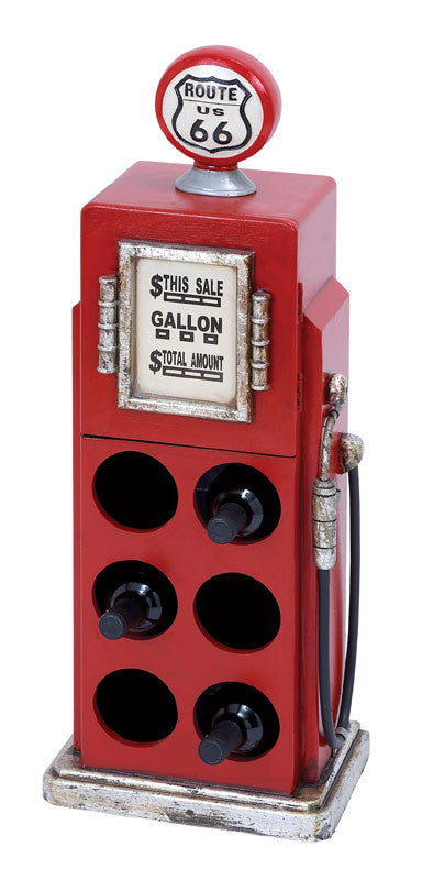 Classic Route 66 Gas Pump Wine Rack for Six Bottles | Man Cave Authority | 53553