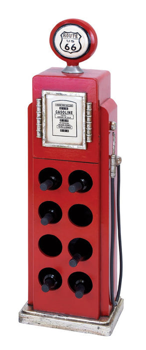 Classic Route 66 Gas Pump Wine Rack for Eight Bottles | Man Cave Authority | 53554