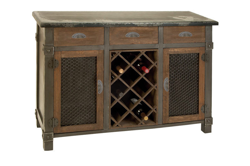 Antique Colonial Wooden Wine Cabinet with Top Drawers | Man Cave Authority | 54400