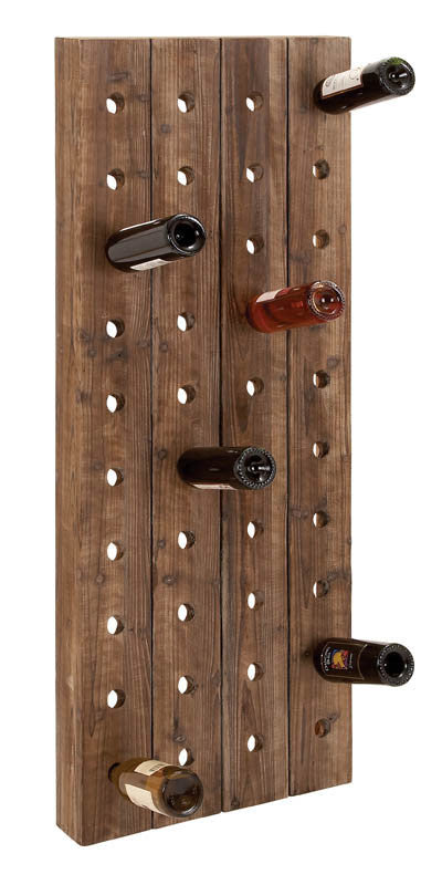 Large Wall Mounted Wine Rack for 40 Bottles | Man Cave Authority | 55409