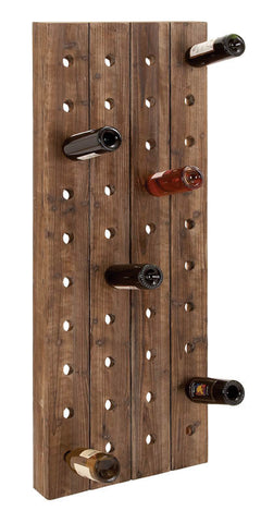 Large Wall Mounted Wine Rack for 40 Bottles