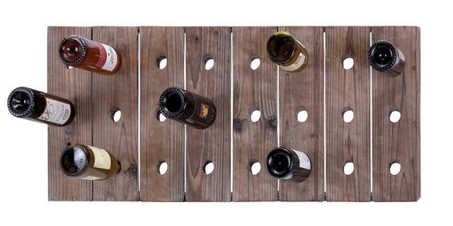 Handmade Distressed Wood Hangable Wine Rack for 24 Bottles | Man Cave Authority | 55413