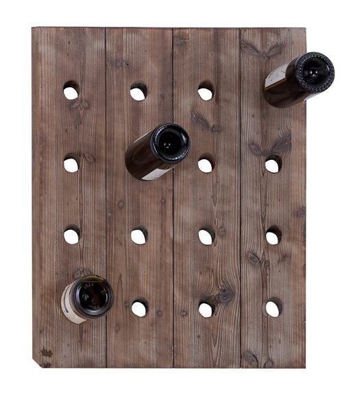 Handmade Distressed Wood Hangable Wine Rack for 16 Bottles | Man Cave Authority | 55414