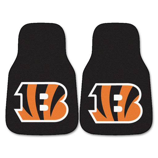 Cincinnati Bengals 2-pc Carpet Car Mat Set | Man Cave Authority | 5688