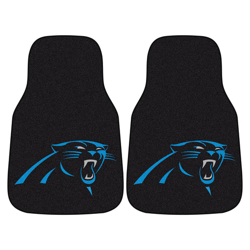 Carolina Panthers 2-pc Carpet Car Mat Set | Man Cave Authority | 5697