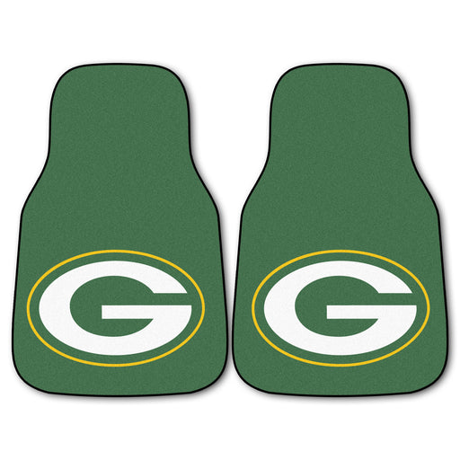 Green Bay Packers 2-pc Carpet Car Mat Set | Man Cave Authority | 5754