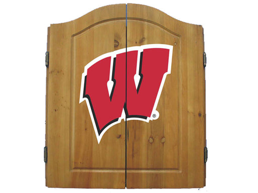 University Of Wisconsin Dart Cabinet Set | Man Cave Authority | IMP  58-4013