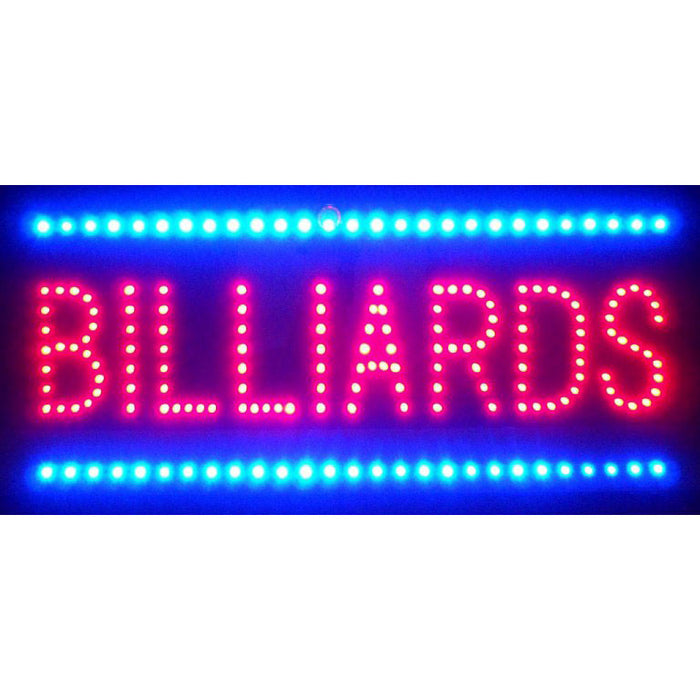Billiards LED Sign | Man Cave Authority | 5BILED