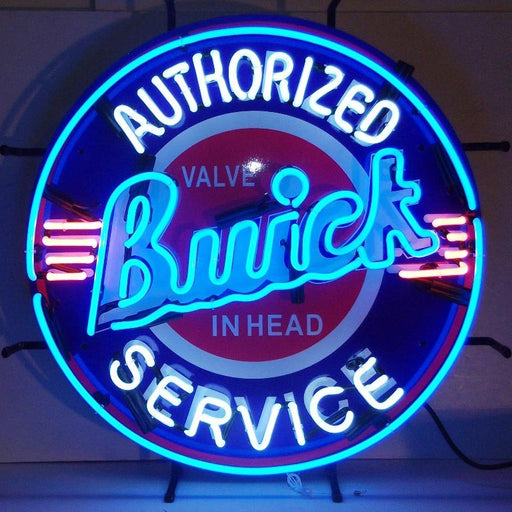 Buick Neon Sign with Silkscreen Backing | Man Cave Authority | 5BUIBK