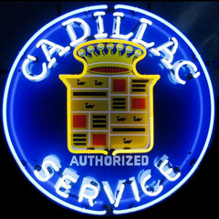 Cadillac Service Neon Sign | Man Cave Authority | 5CADSR