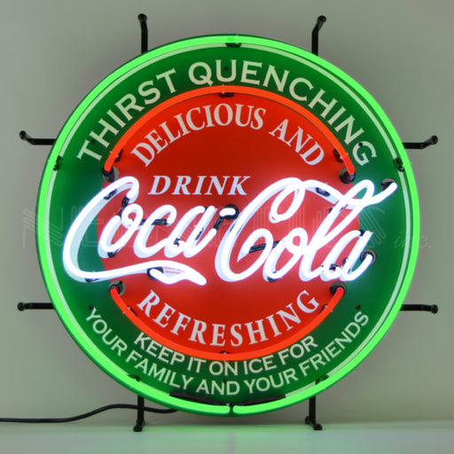 Coca Cola Evergreen Neon Sign | Man Cave Authority | 5CCGRN
