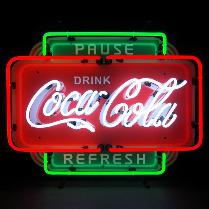 Coca-Cola Pause Refresh Neon Sign | Man Cave Authority | 5CCPRF