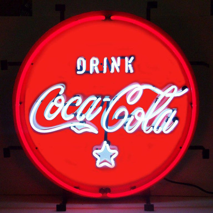 Coca-Cola Red White & Coke Neon Sign | Man Cave Authority | 5CCRWC