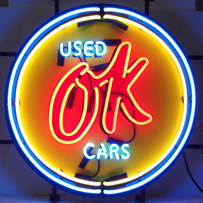 Chevy Vintage OK Used Cars Neon Sign | Man Cave Authority | 5CHVOK