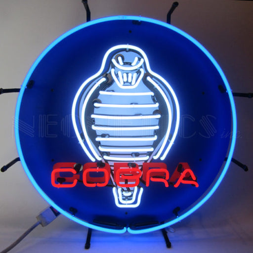 Ford Cobra Neon Sign with Backing | Man Cave Authority | 5COBRB
