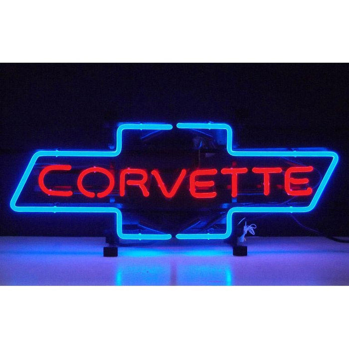 Corvette Bowtie Neon Sign | Man Cave Authority | 5CORBO