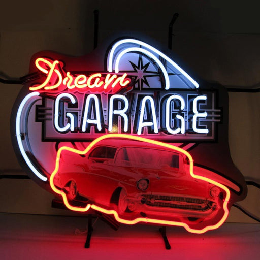 Dream Garage 57 Chevy Neon Sign | Man Cave Authority | 5DG57C