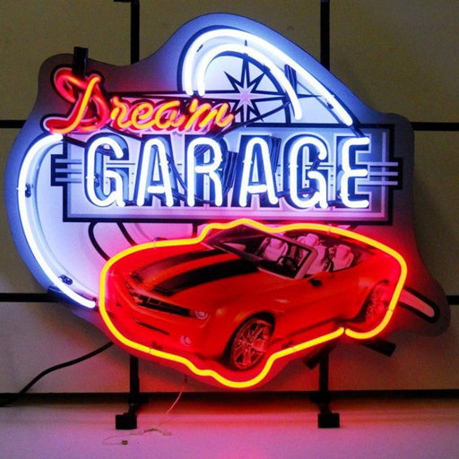 Dream Garage Camaro Neon Sign | Man Cave Authority | 5DGCAM