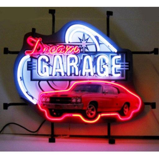 Dream Garage Chevy Chevelle Ss Neon Sign | Man Cave Authority | 5DGCHV
