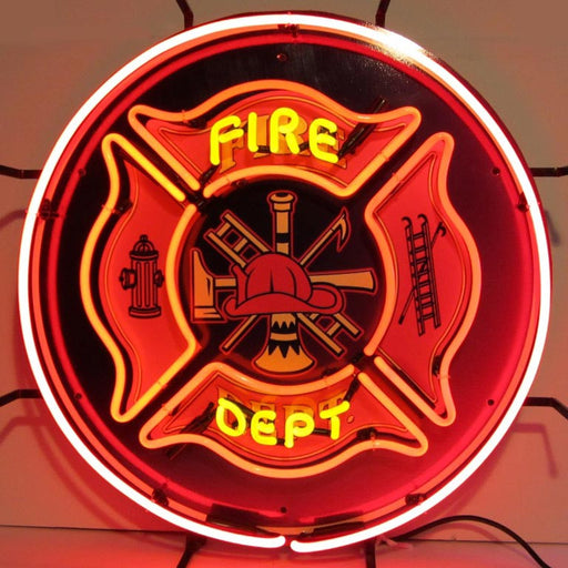 Fire Department Neon Sign | Man Cave Authority | 5FIRED