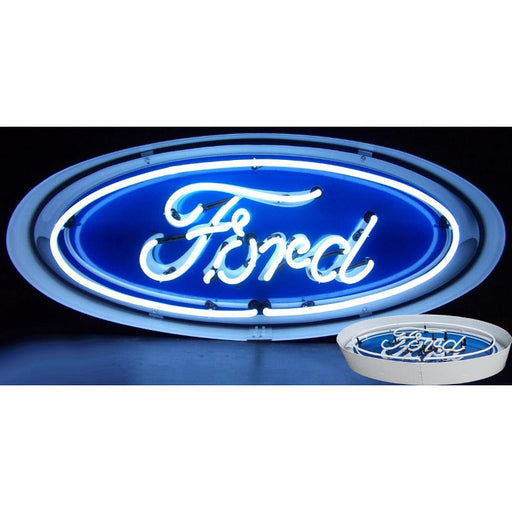 Ford Oval Neon Sign In Metal Can | Man Cave Authority | 5FOVCN