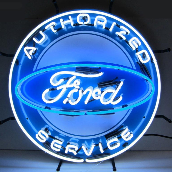 Ford Neon Sign with Silkscreen Backing | Man Cave Authority | 5FRDBK
