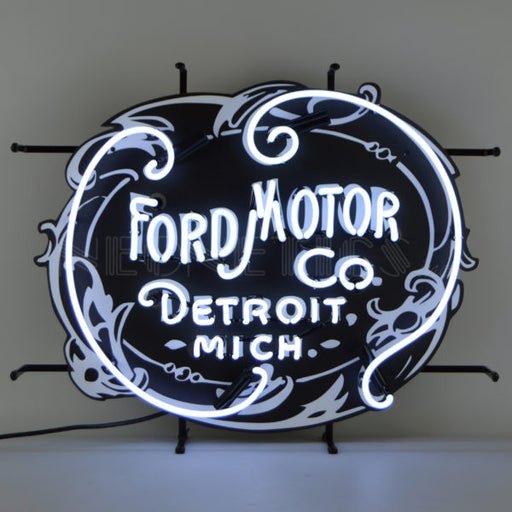 Ford Motor Company 1903 Heritage Emblem Neon Sign | Man Cave Authority | 5FRDMC