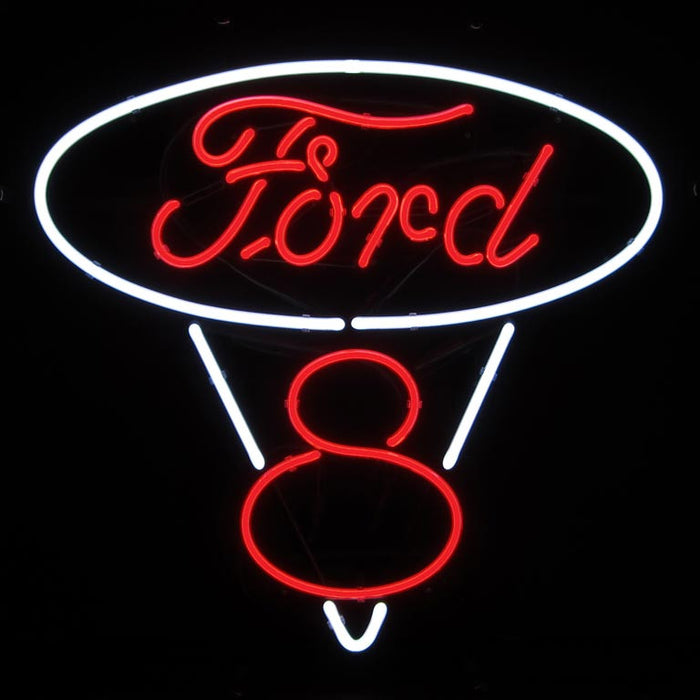 Ford V8 Neon Sign | Man Cave Authority | 5FRDV8