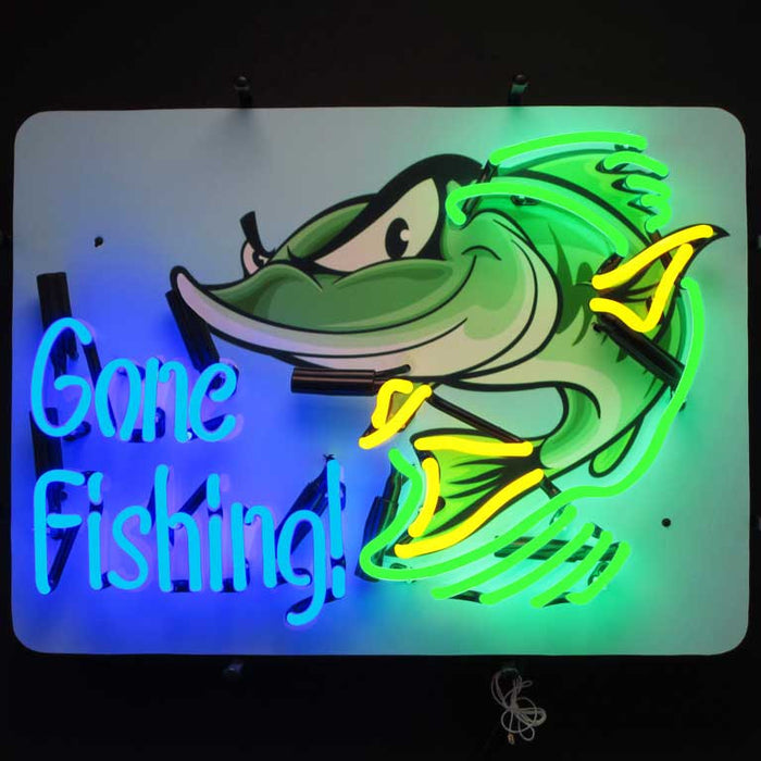 Gone Fishing Neon Sign | Man Cave Authority | 5GFISH