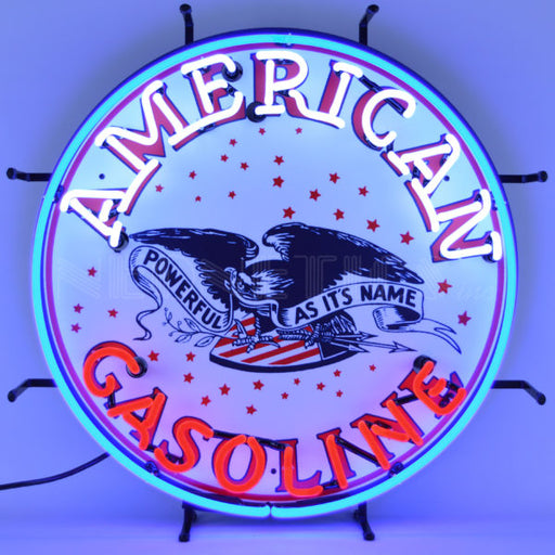 American Gasoline Neon Sign | Man Cave Authority | 5GSAMR