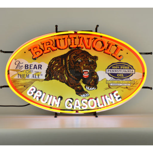 Bruin Gasoline Neon Sign | Man Cave Authority | 5GSBRN