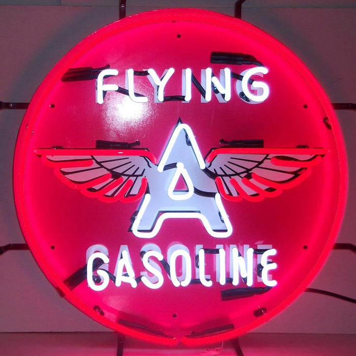 Flying a Gasoline Neon Sign | Man Cave Authority | 5GSFLY