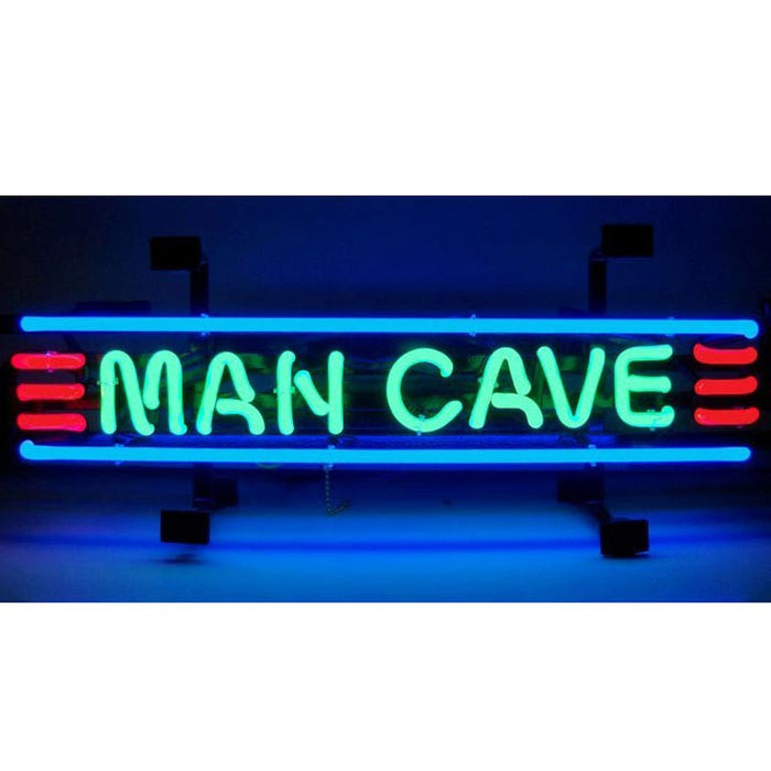 Man Cave Red Green & Blue Neon Sign | Man Cave Authority | 5MANCS