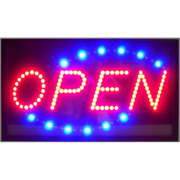 Open Horizontal LED Sign | Man Cave Authority | 5OPLED