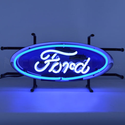 Ford Oval Junior Neon Sign | Man Cave Authority | 5SMLFD