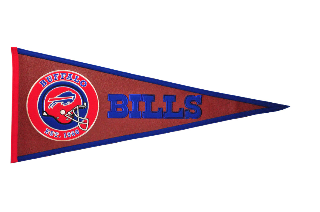 Buffalo Bills Pigskin Pennant | Man Cave Decor | 61703
