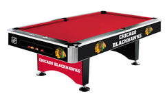 Chicago Blackhawks 8' Pool Table | Man Cave Authority | IMP 64-5002