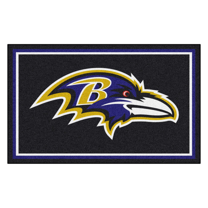 Baltimore Ravens 4x6 Rug | Man Cave Authority | 6561