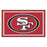 San Francisco 49ers 4x6 Rug | Man Cave Authority | 6604 View 2