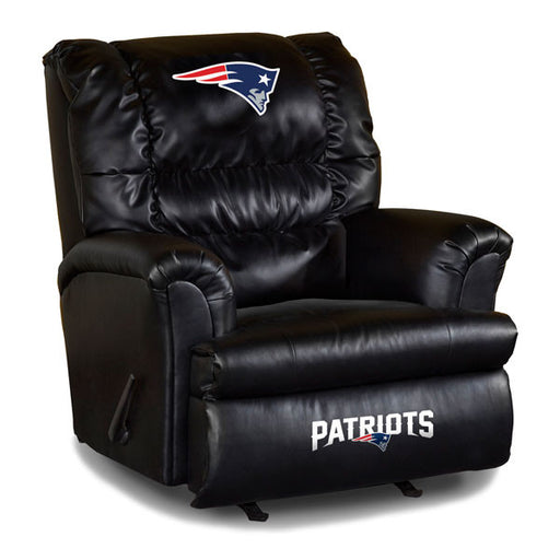 New England Patriots Big Daddy Leather Recliner | Man Cave Authority | IMP 79-1011
